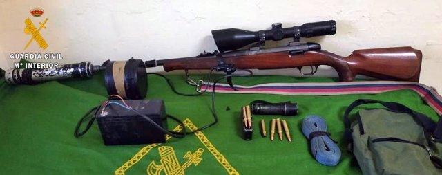 Arma intervenida a un vecino de Villanueva de la Serena
