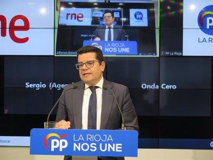 """El PP califica de """"error histórico"""" la forma en que se constituyó la Comisión Recuperación de La Rioja tras el COVID-19"""