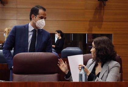 Presidencia recuerda a Aguado (Cs) que la estrategia del Gobierno de Madrid la marca Ayuso (PP)