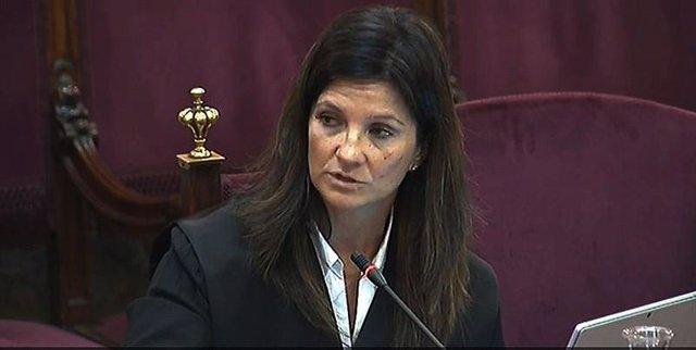 La abogada del Estado Rosa María Seoane durante el juicio al procés en el Supremo