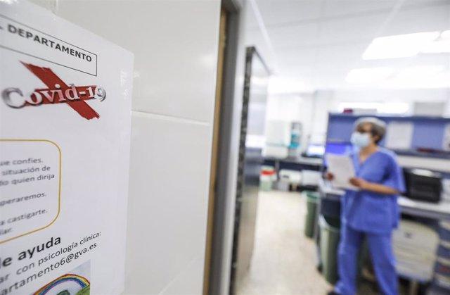 Personal sanitario en un hospital valenciano
