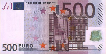 El número de billetes de 500 euros registró en abril su mínimo desde mayo de 2002