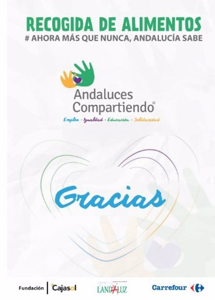Fundación Cajasol y Landaluz organizan una recogida de alimentos en centros Carrefour