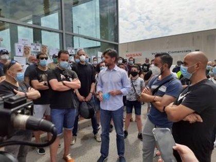El alcalde de Molins de Rei (Barcelona) apoya a los trabajadores de Nissan