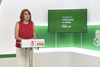 """Susana Díaz pide a Moreno que """"rectifique"""" la decisión de """"dejar la recuperación de Andalucía en manos"""" de Vox"""