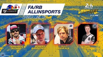 Fernando Alonso disputará las 24 Horas de Le Mans Virtuales