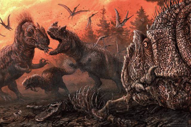 Pruebas de canibalismo entre dinosaurios