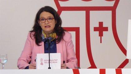 Oltra pide en euskera que las comunidades puedan cogestionar el Ingreso Mínimo Vital