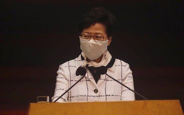 China.- La líder de Hong Kong pide a los ciudadanos apoyo a la nueva ley de segu