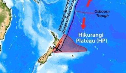 Nueva Zelanda está sobre un viejo tubo de lava que llega al manto terrestre