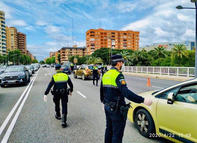 Control de tráfico en València