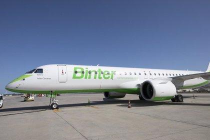 Binter retomará a partir del 1 de julio sus vuelos entre Canarias, la Península y Baleares
