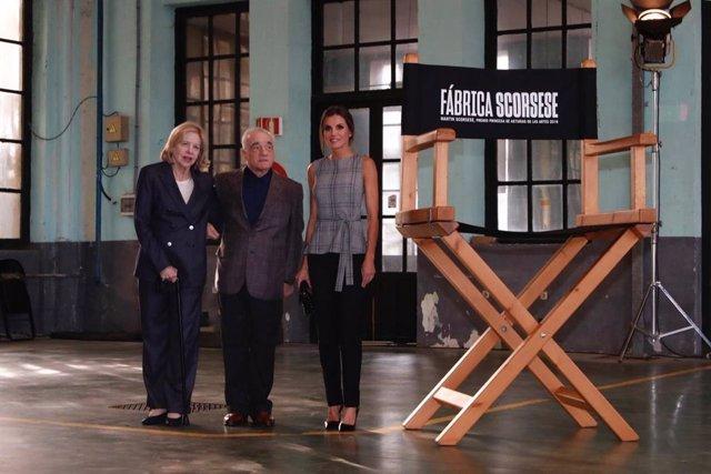 Encuentro del director Martin Scorsese con jóvenes cineastas organizado en Oviedo por la Fundación Princesa de Asturias al que ha acudido la Reina Letizia.