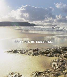 Turismo lanza una campaña para felicitar a los turistas por el Día de Canarias