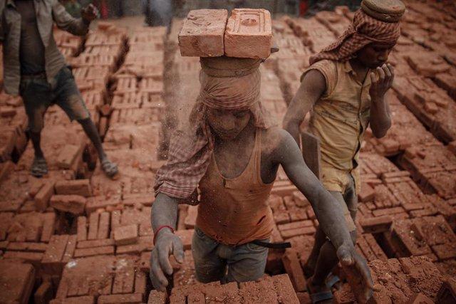 Trabajador en Nepal