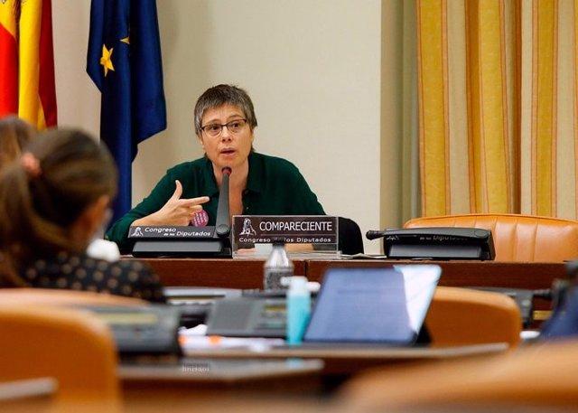 Amaia Pérez Orozco, profesora de Economía Aplicada de la UCM, comparece ante la Comisión de Reconstrucción del Congreso