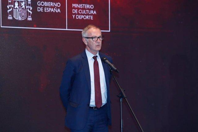 El exministro de Cultura y Deporte, José Guirao, en un acto en 2019