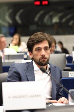 El eurodiputado de Ciudadanos en el Parlamento Europeo, Adrián Vázquez