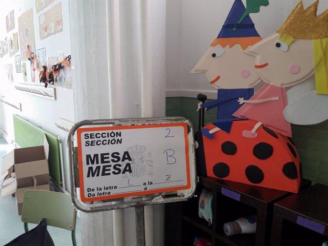 Colegio electoral gallego. Foto de archivo.