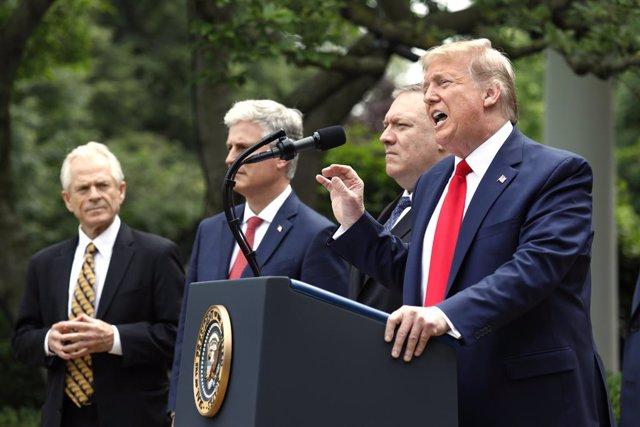 """Coronavirus.- Trump da por terminada la relación de EEUU con la OMS debido al """"c"""