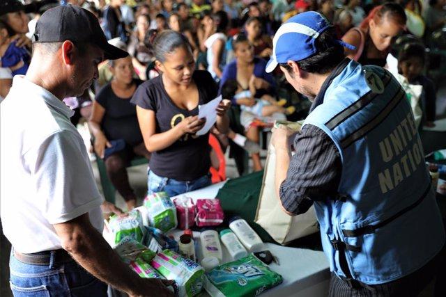 Coronavirus.- Llega a Venezuela un avión de la ONU con 12 toneladas de ayuda hum