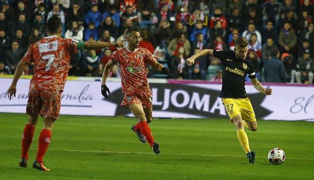 Caio Henrique Guijuelo contra Atlético de Madrid