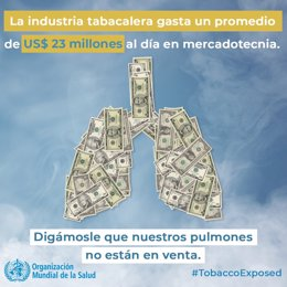 Imagen de la campaña de la OMS por el Día Mundial sin Tabaco