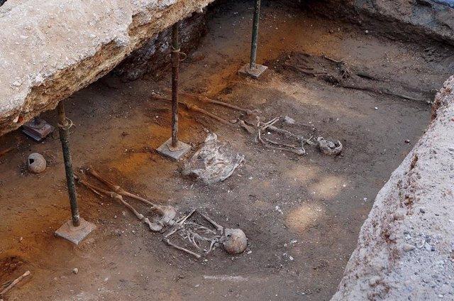 Imagen de las excavaciones difundida por el Ayuntamiento de Valladolid.