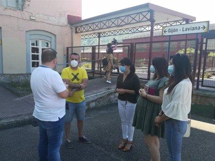 Ciudadanos reclama poner fin a los retrasos de las obras del soterramiento de Langreo