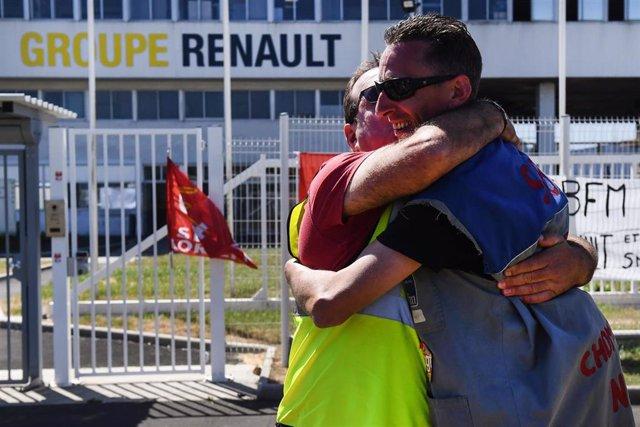 Protesta contra los despidos en el grupo Renault