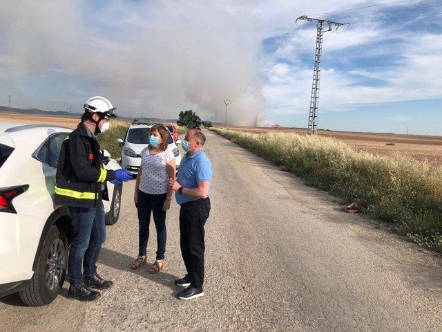 Incendio vertedero Albacete