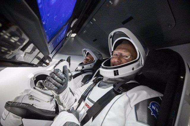Dos astronautas parten a la Estación Espacial en una Crew Dragon de SpaceX