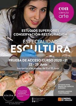 Especialidad escultura de la Escuela de Conservación y Restauración de Huesca