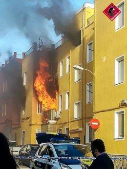 Incendio de una vivienda en Villena
