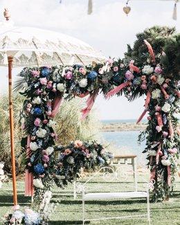 Adorno floral de una boda del florista Antonio Rivera.
