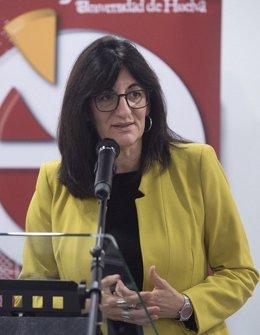 La rectora de la UHU, María Antonia Peña