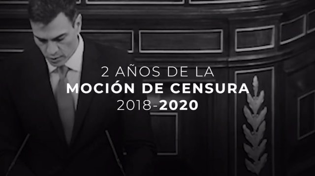 """Vídeo del PP en el qual recorda la moció de censura """"injusta"""" que va portar a Sánchez al poder i en el qual assegura que """"els espanyols no es mereixen un govern que els esmenta"""""""