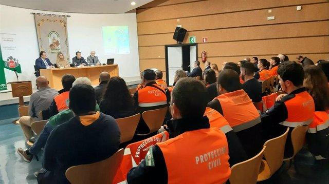 Imagen de archivo de la jornada de Protección Civil organizada en la Delegación del Gobierno de la Junta en Cádiz el pasado 23 de noviembre de 2019