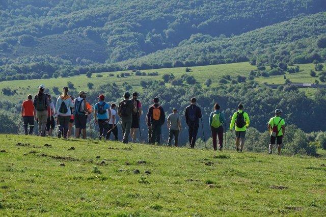 Participantes en la búsqueda del joven desaparecido en Campoo