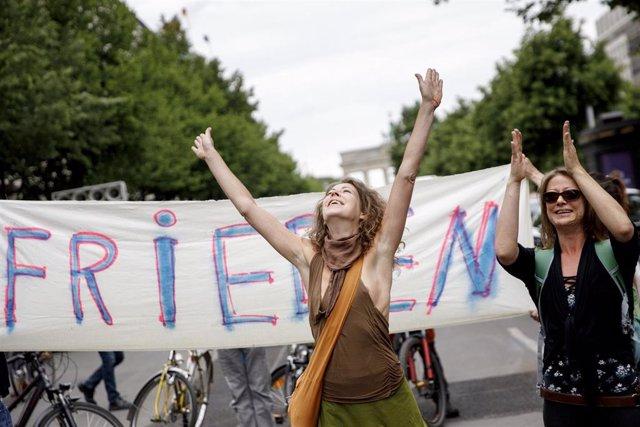 Manifestación contra el coronavirus en Berlín