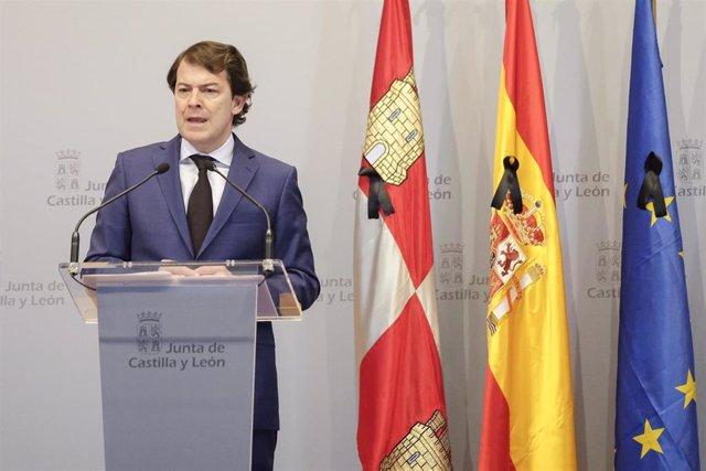 """Mañueco pide una """"desescalada verbal, prudencia y moderación verbal"""" para afrontar la recuperación económica del país"""