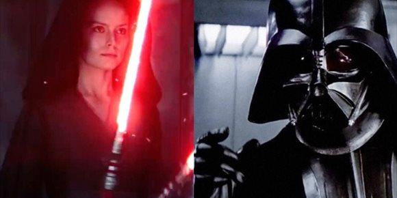 2. La conexión del sable láser de Rey Oscura con Darth Vader en Star Wars: El ascenso de Skywalker