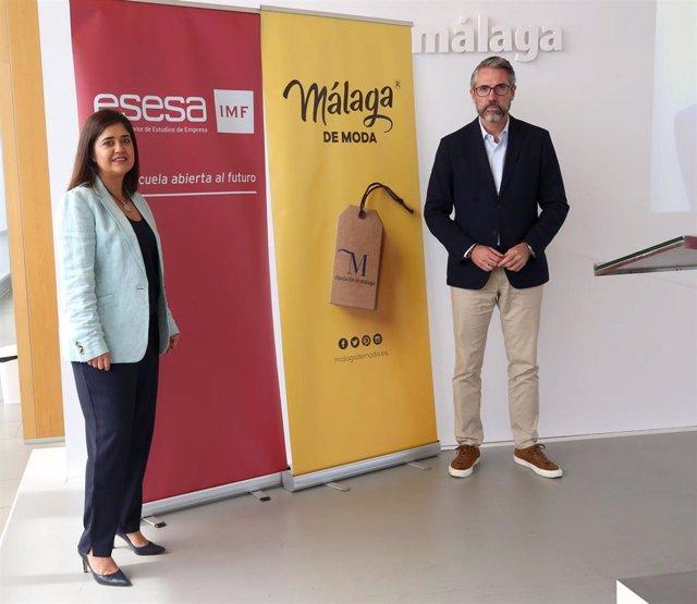 Belén Jurado, directora de Esesa, y Juan Carlos Maldonado, vicepresidente primero de la Diputación y responsable de Málaga de Moda