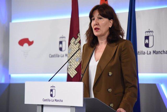 Rueda de prensa de la portavoz del Gobierno de Castilla-La Mancha, Blanca Fernández.