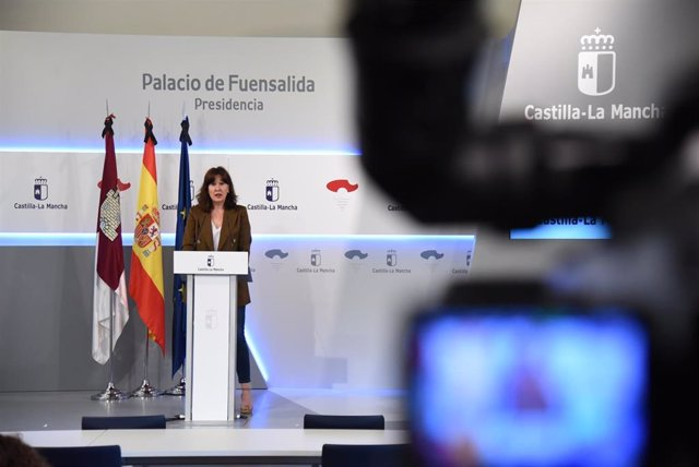 Rueda de prensa de la portavoz del Gobierno regional, Blanca Fernández.