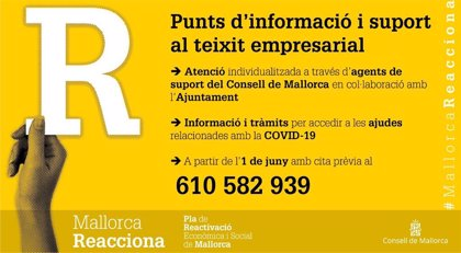 El servicio de información del Consell de Mallorca para empresas da 70 citas en las primeras horas de funcionamiento