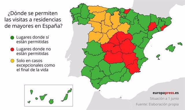 ¿Dónde Se Permiten Las Visitas A Residencias De Mayores En España?