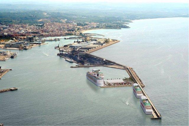 Proyecto del Puerto de Tarragona para las obras de muelle multipropósito de Baleares (2020-2021)