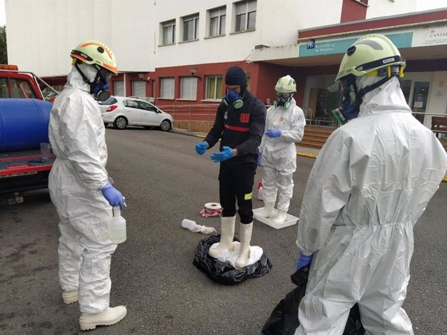 Desinfección de residencias de mayores por el 112 Cantabria