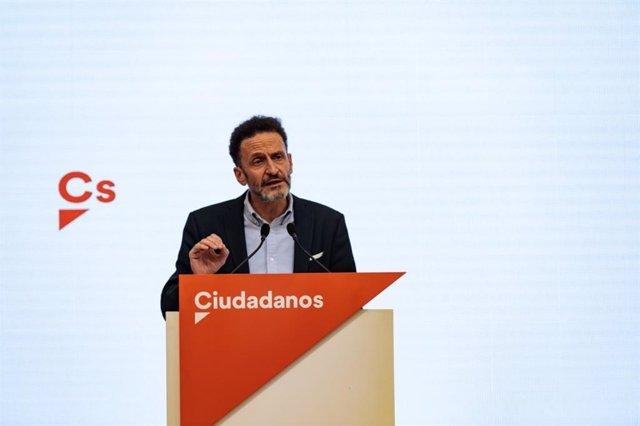 El dirigente de Ciudadanos y portavoz adjunto en el Congreso de los Diputdos, Edmundo Bal.